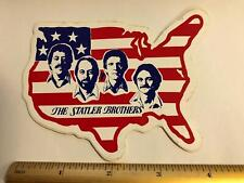 Vtg The Statler Brothers Patriotic All American Country Music Decal Sticker 1991