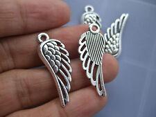 15 x Tibetan Silver Angel Bird Wing Metal Charms Pendants Beads Vintage 34x12mm