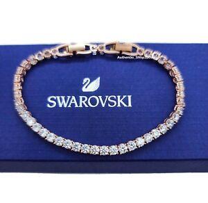 NEW 100% Authentic SWAROVSKI Rose Gold Tennis Deluxe Sparkling Bracelet 5464948