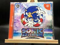 Sonic Adventure w/spine (Sega Dreamcast, 1999) from japan