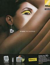 Publicité 2003  Appareil Photo numérique  NIKON  coolpix