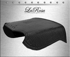 La Rosa Black Gator Emboss Leather Harley Softail Rigid Heat Deflector Shield