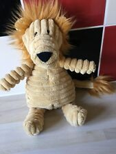 Jellycat Lion Cordy Cord Yellow Brown  Comforter Cat Roy Ribbed Soft Toy