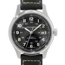 Auth HAMILTON Khaki Field Titanium Black Dial Automatic H705250 90025309