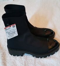 Zara ladies Black Ankle Boots size 3