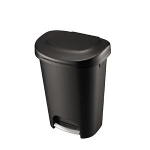 RUBBERMAID Black Foot Pedal Trash Can 13 Gallon Garbage Bin Waste Basket