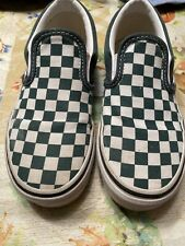 Kids Vans Size 1.5 Green Checkers Size