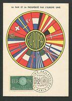FRANCE MK 1960 EUROPA CEPT MAXIMUMKARTE CARTE MAXIMUM CARD MC CM d5264