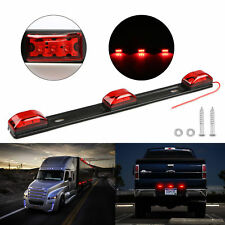 "14"" Red Clearance ID BAR Marker Light 3 Light 9 LED Trailer Stainless Steel New"