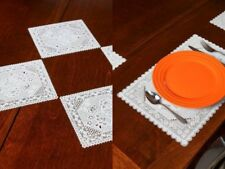 Lace Placements - Set of Coaster or Placements