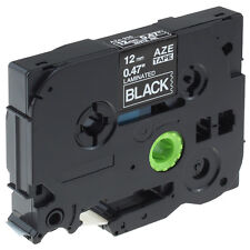 TZe-335 P-Touch Label Tape Cartridge Compatible for Brother 12mm White on Black
