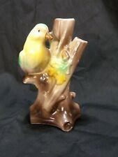 """New listing Vintage Czechoslovakian Bird on Tree Bud Vase 5"""" tall"""
