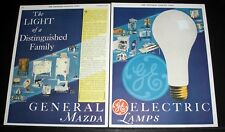 1931 Old Magazine Print Ad, Ge Mazda Lamps, The Light Of A Distinguished Family!