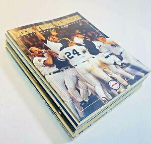 NY Yankee Yearbook World Series Memorabilia - 6 Book Lot 1996-2000 Era