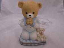 Lefton China Porcelain Teddy Bear w/ Puppy Night Light 1995 10100