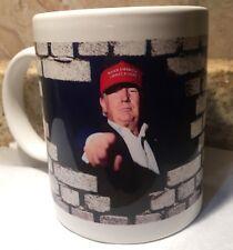 "NEW! President Donald  Trump ""WALL"" Coffee Cup Mug 🇺🇸🇺🇸🇺🇸🇺🇸🇺🇸"