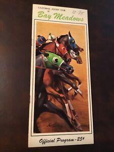 Vintage 1967 Bay Meadows Horse Racing Official Program Oct 25 San Mateo