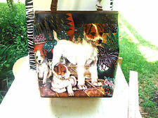 PRE-OWNED AWESOME BEADED BAG WITH DOGS-THE BEADING IS REALLY NICE-HANDBAG!
