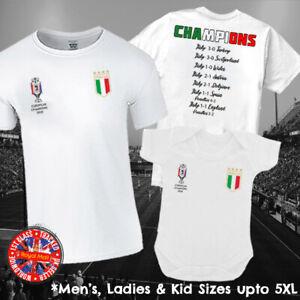 Italy Italia Champions 2020 Football T-shirt Mens Ladies Kids Euros