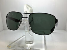 AUTHENTIC RAYBAN  RB 3533 002/71 BLACK/GREEN LENS 57MM
