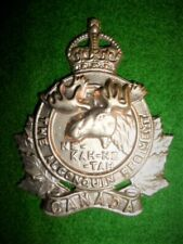 The Algonquin Regiment KC Cap Badge - Canadian WW2
