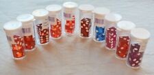 PAIRS OF LAS VEGAS CASINO DICE from 5 CASINOS - authentic - w/ tube - numbered