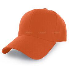 Plain Baseball Cap Solid Color Blank Army Hat Ball Men Women Hook-N-Loop