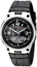 Casio Men's Combo Data Bank Watch, Black Resin Strap, 3 Alarms, AW80-1A2V