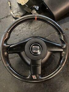 Seat Leon Cupra R Mk1 1M BAM Steering Wheel Red Stripe
