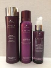 New:Alterna Caviar Clinical Densifying Shampoo/Styling Mousse/Leave In Treatment