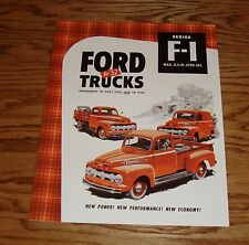 1952 Ford Truck F-1 Pickup Panel Sales Brochure 52