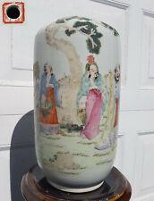 """Antique Chinese Porcelain Vase Famille Rose Nobles Tongzhi Period 1862 China 13"""""""