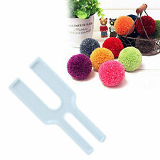 Easy Pom Pom Maker Fluff Ball Needle Weaving Knitting Wool Tool x1