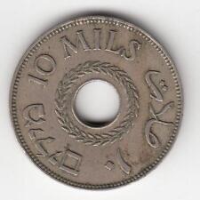 PALESTINE 1946 10 Mils British Mandate Trade Coin CU-NI CIRCULATED