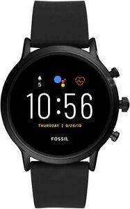 Fossil Men's Smartwatch Black Gen 5 Heart Rate GPS NFC FTW4025