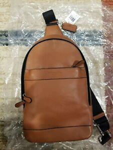 New Coach Men's f71751 leather shoulder crossbody bag backpack,