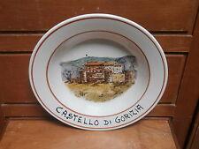 """Piatto ceramica GORIZIA """" Castello di Gorizia """" dipinto a mano"""