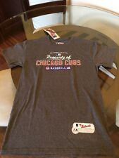 NWT Chicago Cubs Majestic Gray T-Shirt Small Brand New With Tags!!!