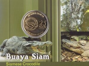 MALAYSIA 25 SEN UNC COIN 2006 YEAR KM#109 SIAMESE CROCODILE