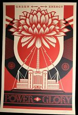 SHEPARD FAIREY Power and Glory GROSSE LITHOGRAPHIE SIGNIERT OBEY GIANT MINT