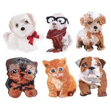DIY Dog Iron Embroidery Patches Cat Motif Applique Patch Clothing Glasses Patch