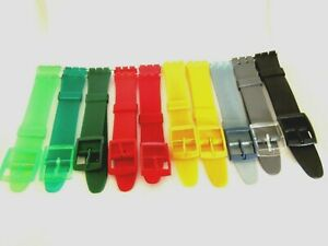 Replacement Resin 17mm Watch Strap For Swatch Watches Including Fitting Pins