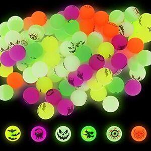72PCS Halloween Bouncing Ball,Glow in Dark Bouncy Balls Toys for Kids