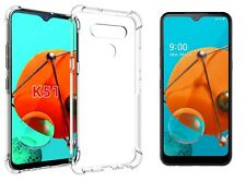 Shock-Absorption Flexible Transparent TPU Cell Phone Cover for LG K51 (Clear)