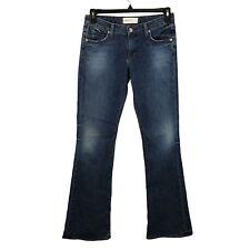Paper Denim & Cloth Jeans Womens 29 Ellery Medium Wash Low Rise Flare Leg Long