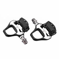 ROCKBROS Road Bike Black Self-lock Pedals with SPD-SL Cleats CR-MO Steel Axle