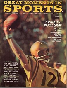 1963 DEC Great Moments in Sports football magazine, Roger Staubach, Navy VG