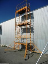 Steel Mobile Scaffold Tower, Platform Ht 5.3 M With 44 Inch Outrigger