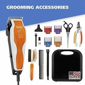 WAHL Groom Pro Pet Clipper Kit w/ Nail Clipper & Double Sided Pin Bristle