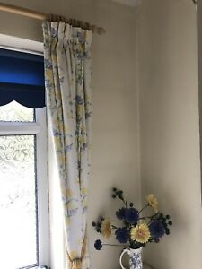 Gorgeous Laura Ashley Blue And Yellow Floral Curtains